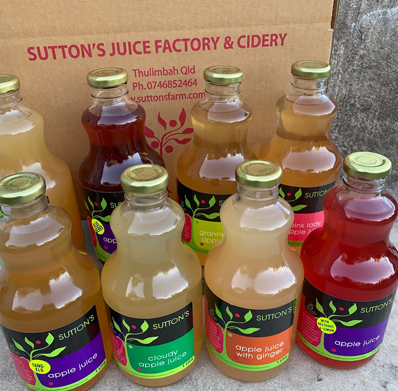 Mixxed Box of Sutton's Apple Juice (Stanthorpe)